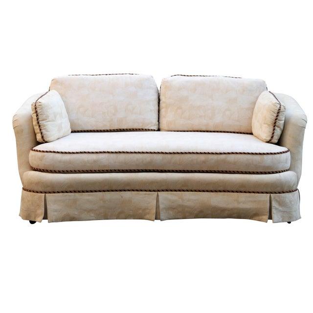 Sherrill Mid Century Style Tuxedo Sofa in Cream - Image 2 of 8