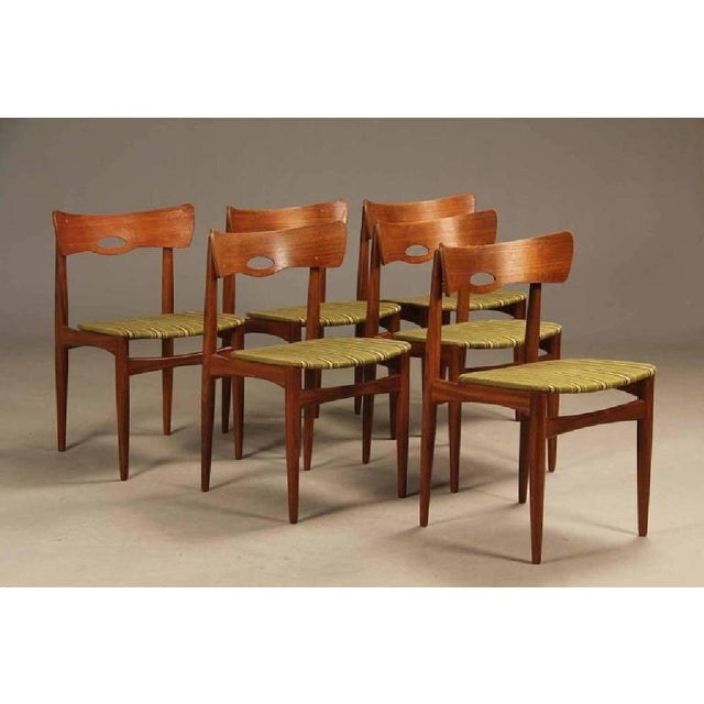 Danish Vintage Teak Chairs by Bramin, 1960s - Set of 6 For Sale - Image 4 of 5