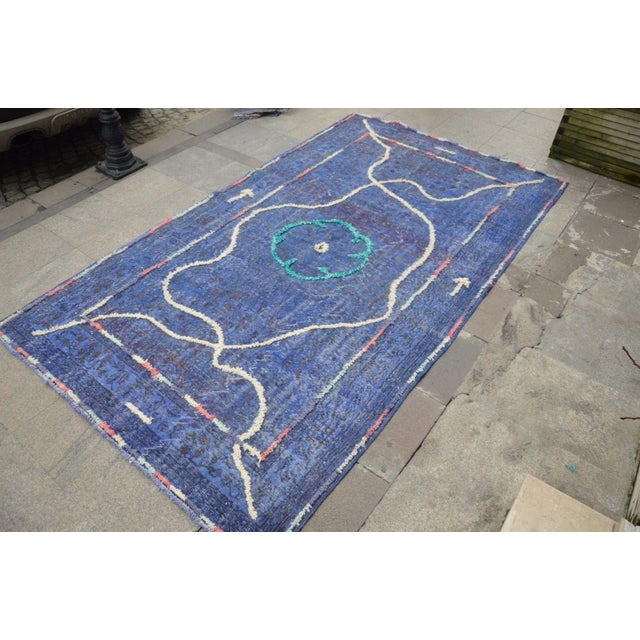 "Contemporary Turkish Handmade Rug - 9'6"" X 5'4"" For Sale - Image 6 of 6"