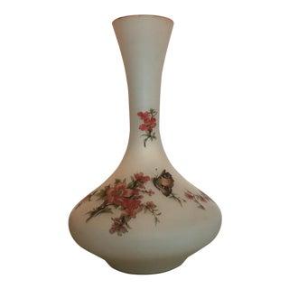 Italian Opaline Floral Vase For Sale