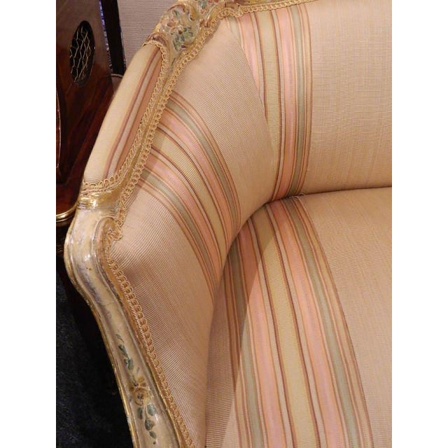 Poly-Chrome Louis XV Style Sofa With Carvings, Mid-18th Century For Sale In Savannah - Image 6 of 8