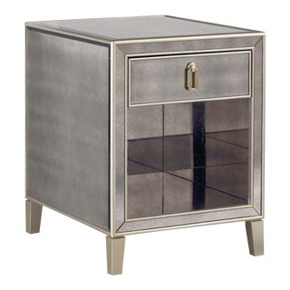 Drexel Heritage Flattery Mirror End Table For Sale
