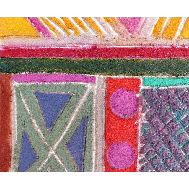 """""""Primitive Geometric Spear"""" Mixed Media Painting For Sale In Miami - Image 6 of 13"""