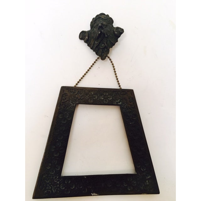 This true antique heavy bronze goth Memoria Morti picture frame has an amazing history. Would have been used to...