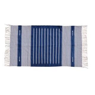 Myrtle Rug, 6x9, Blue & White For Sale