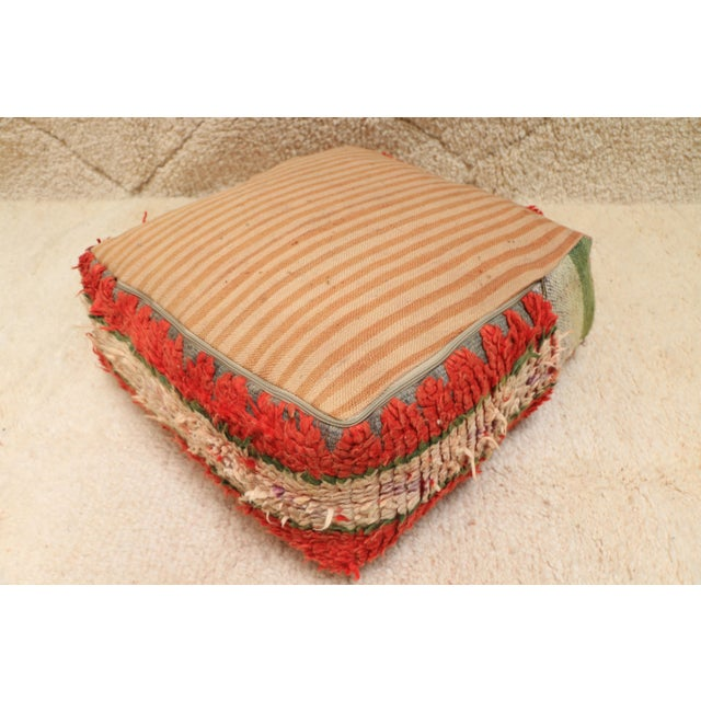 Moroccan Vintage Unstuffed Pouf For Sale - Image 9 of 12