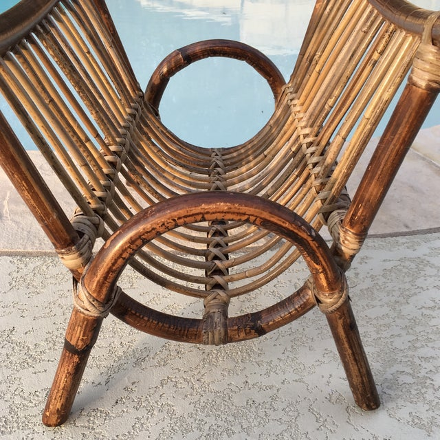Bentwood & Rattan Magazine Rack For Sale In Austin - Image 6 of 9