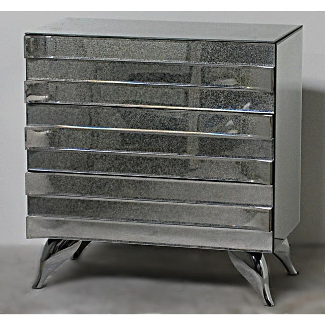 Hollywood Regency Style Mirrored Chests - A Pair - Image 3 of 4