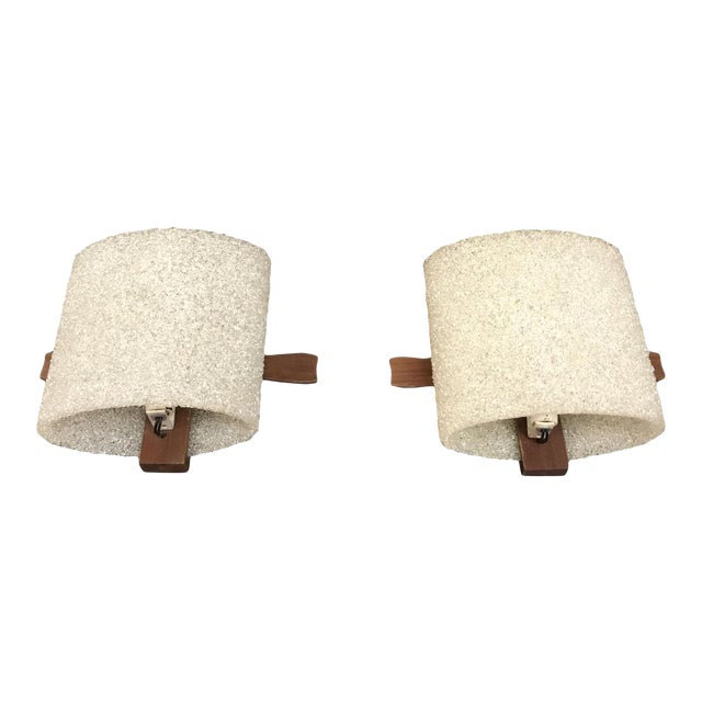 Pair Of Mid Century Modern Wall Sconce, Danish Style Circa 1950s. - Image 1 of 11