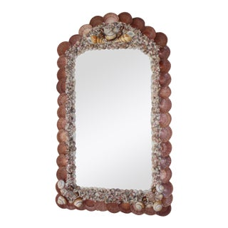 Seashell Encrusted Mirror by Snob Galeries For Sale
