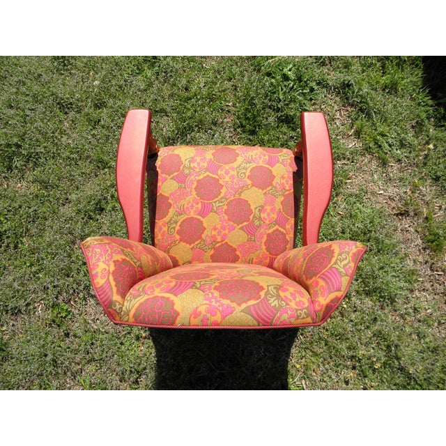 1910s Antique Chippendale Period Ball and Claw Upholstered Wingback Chair For Sale In Philadelphia - Image 6 of 8