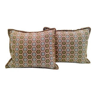 Designer G.P. & J. Baker Bespoke Pillows - A Pair For Sale