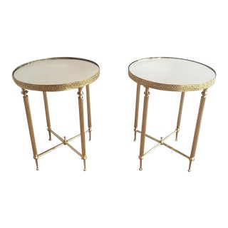 Hollywood Regency End Tables Pair For Sale