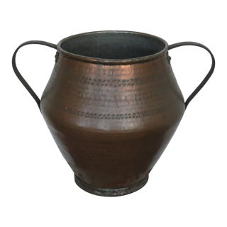 1970s Vintage Copper Urn For Sale