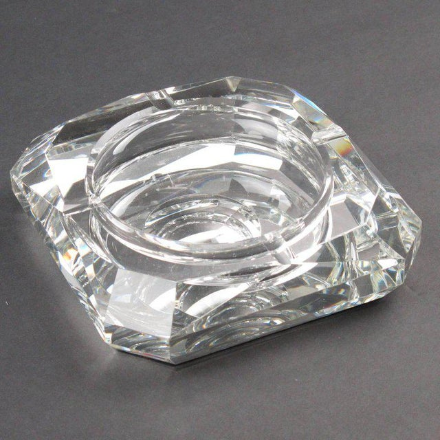 Jean Luce French Art Deco Mirrored Glass Cigar Ashtray For Sale In Atlanta - Image 6 of 8