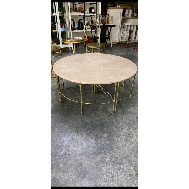 "2010s Contemporary Mercer Round Marble Coffee Table by Gabby-Touch of Pink"" For Sale - Image 5 of 5"