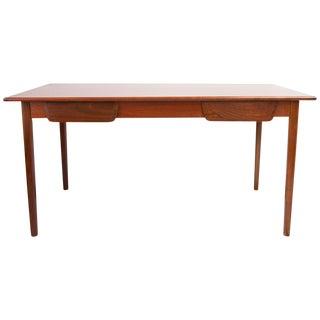 Mid Century 2 Drawer Walnut Desk For Sale