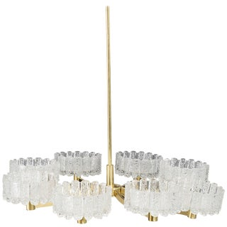 Large Chandelier, Orrefors Attributed For Sale