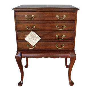 Cresent Furniture Mahogany Queen Anne Style Silver Chest For Sale