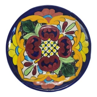 Mid Century Talavera Mexico Salad Plate For Sale