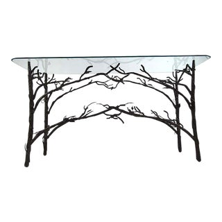 Contemporary Giacometti Style Console Table For Sale