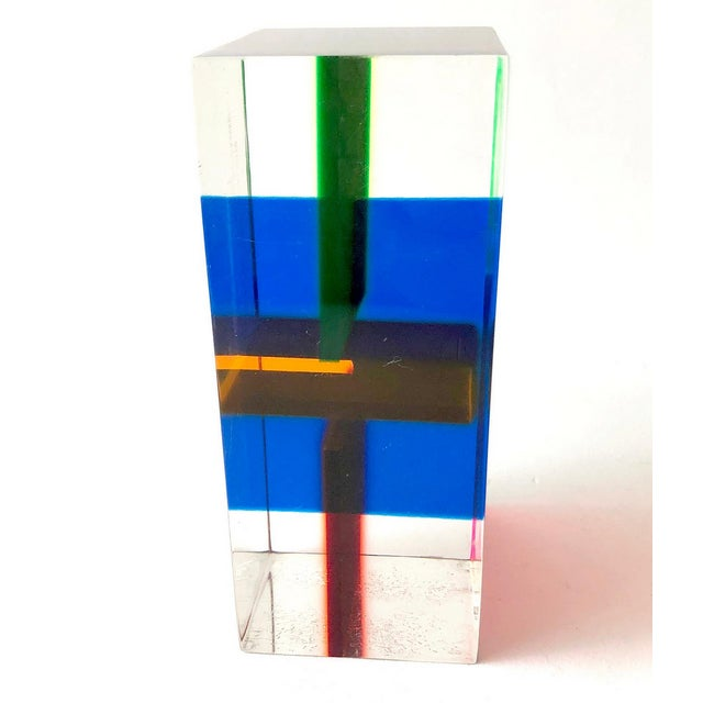 Vasa Velizar Mihich 1970s Merle Edelman Acrylic Layered Sculpture For Sale - Image 4 of 7
