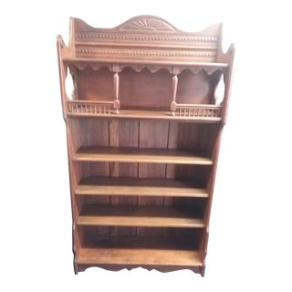 19th Century Victorian Eastlake Wooden Bookcase For Sale
