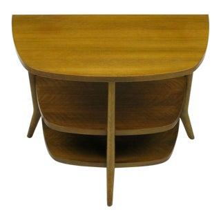 Bertha Schaefer Walnut Demilune Side Table For Sale