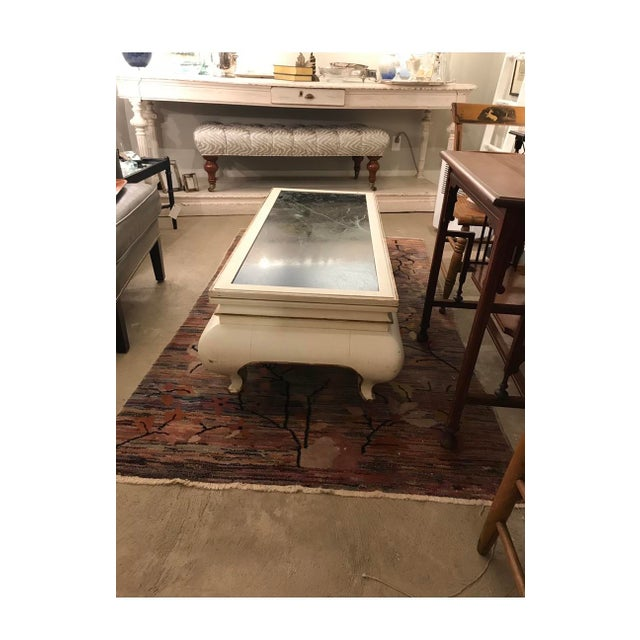 Valero White & Marble Top Coffee Table For Sale - Image 4 of 5