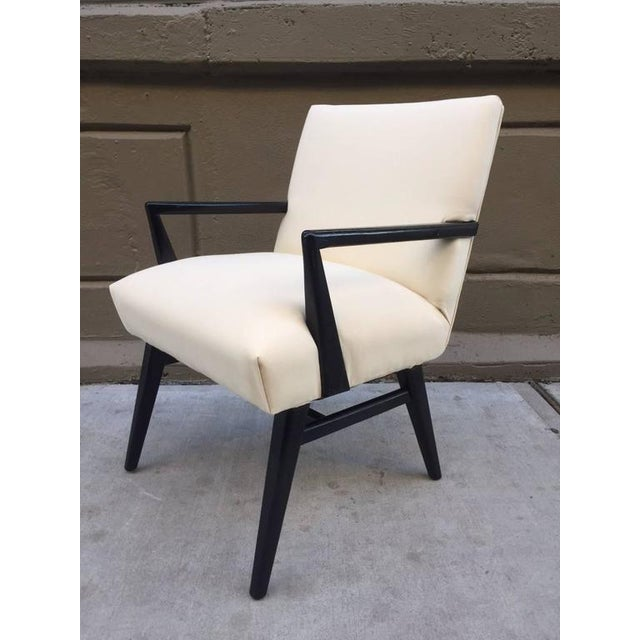 Mid-Century Modern Pair of Jens Risom Armchairs For Sale - Image 3 of 5