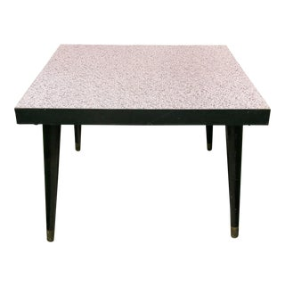 1950s Mid-Century Modern Square Formica Coffee Table For Sale