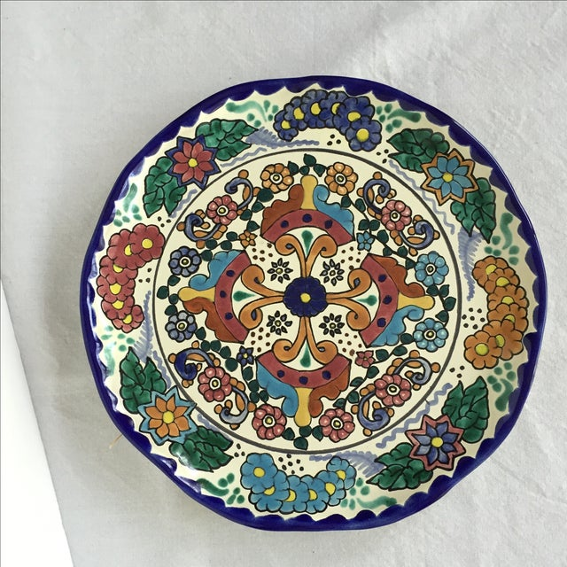 Mexican Pottery Platter For Sale - Image 4 of 9