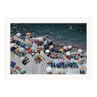 """Slim Aarons, """"Positano Beach,"""" January 1, 1979 Getty Images Gallery Framed Art Print For Sale"""
