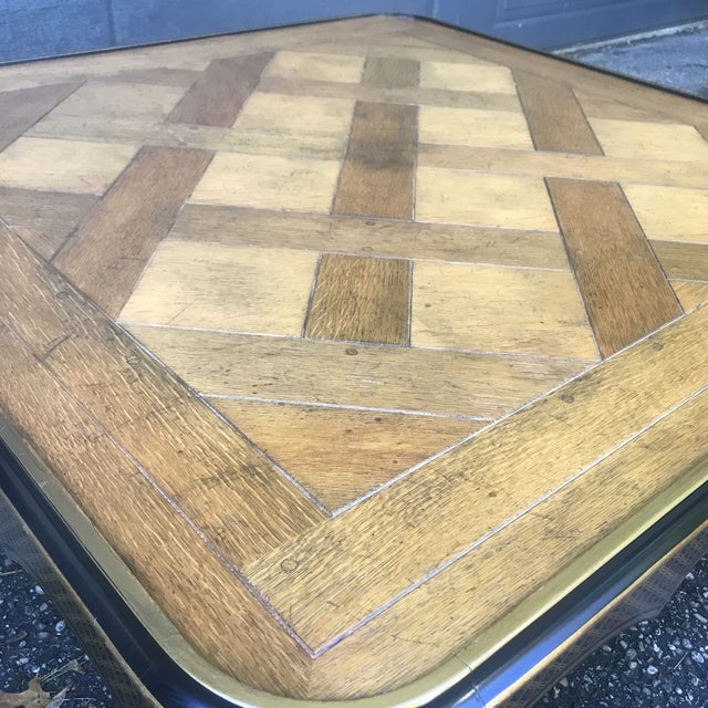 Art Nouveau Ebonized and Stenciled Coffee Table For Sale - Image 4 of 12