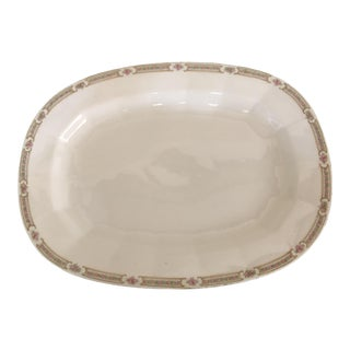 Vintage Mid Century Vitreous Edwin Knowles Platter For Sale