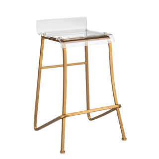 Gold Acrylic Counter Stool For Sale