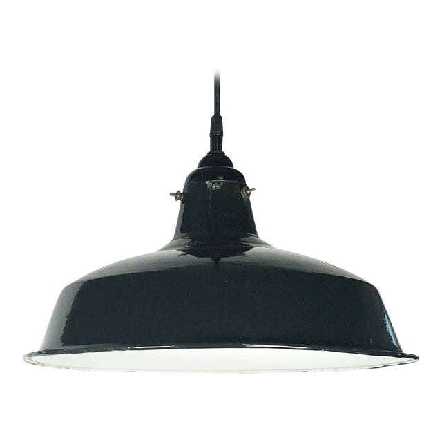 """Black Tole Industrial Hanging Lamps or Lanterns from England (14 1/4"""" Diameter) For Sale"""