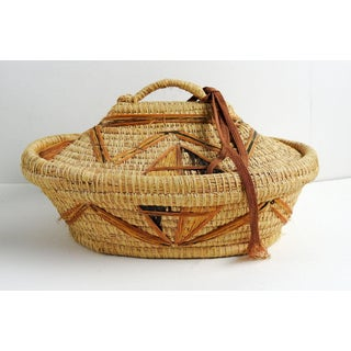 Coil Grass & Raffia Woven Lidded Basket Preview