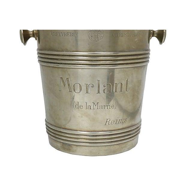 Cabin Rare 1940s Christofle Morlant Bistro Champagne Bucket For Sale - Image 3 of 7