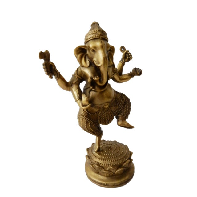Bronze Lord Ganesh Sculpture For Sale - Image 4 of 7