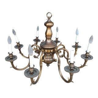 Bronze Art Lamp Chandelier 8 Lights For Sale