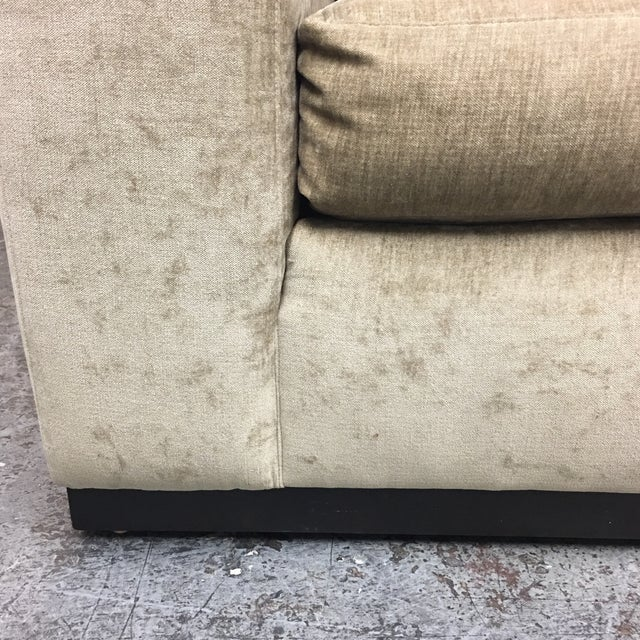 Textile Cisco Furniture Green Velvet Two Piece Sectional For Sale - Image 7 of 11