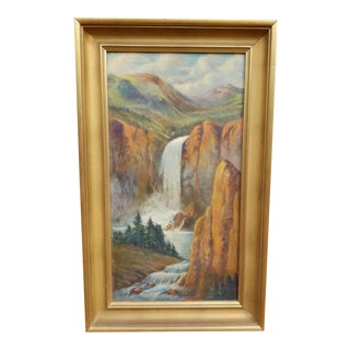 Early 20th Century Landscape Oil Painting, Framed For Sale