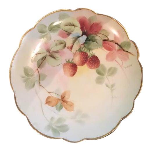 "Limoges Handpainted Plate ""Pitlin & Brooks"" - Image 1 of 3"