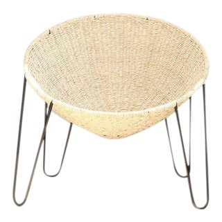 Made to Order Native American Tribal Wicker and Steel Cochimí Chair