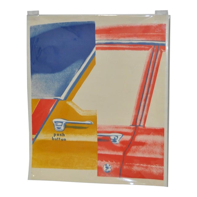 """1960s Vintage """"Roll Down"""" Color Lithograph by James Rosenquist For Sale"""
