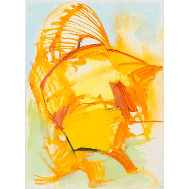 """""""Brush Fire"""" is a 2012 mixed media piece by Ted Stanuga. Stanuga uses fluid gestural brushstrokes in this painting to..."""