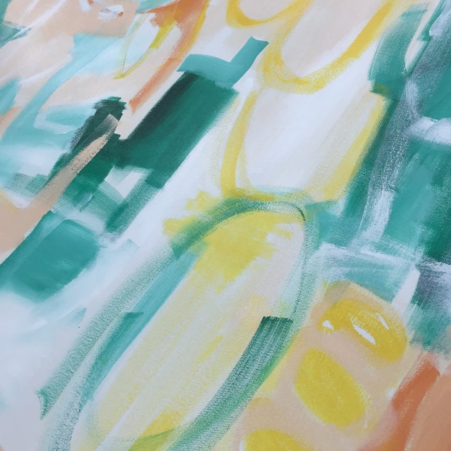 """""""Summer Garden"""" by abstract artist Christina Le Sesne Longoria. Original artwork completed in 2019, this piece is brand..."""