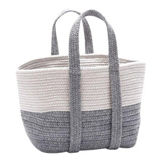 Farmhouse Light Gray Square Basket