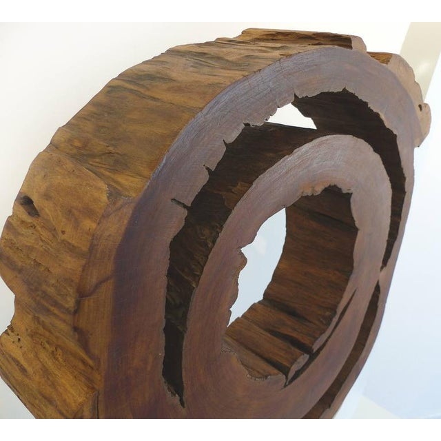 Ipe Reclaimed Wood Mounted Sculpture by Valeria Totti For Sale - Image 5 of 11